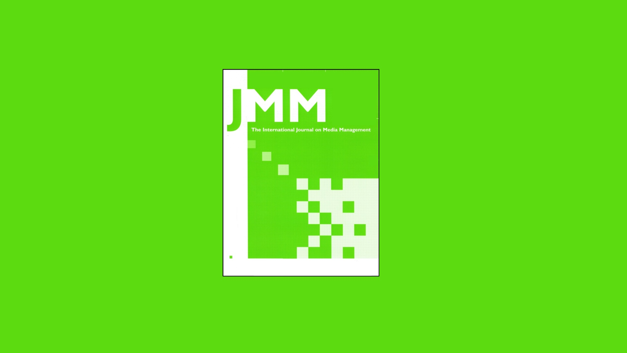 JMM Logo, white on bright green