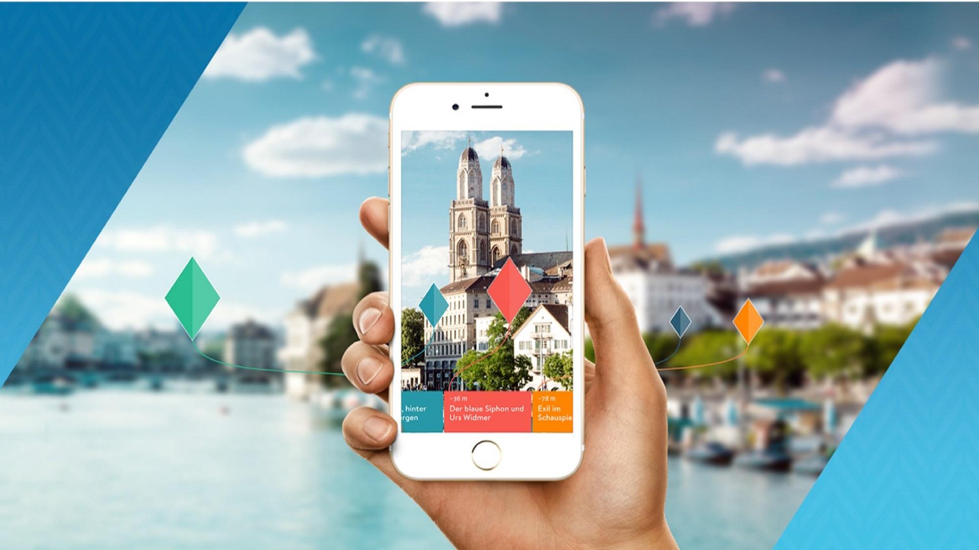 BUX App im Vordergrund, im Hintergrund verschwommen eine Stadt