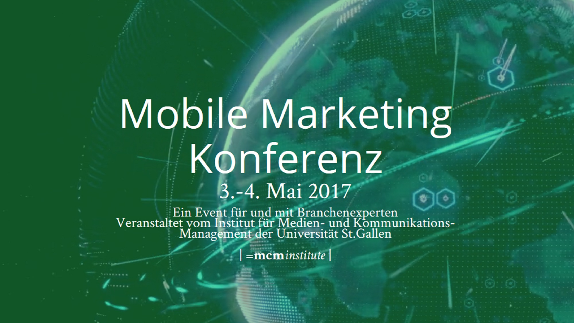 Banner mobile marketing conference 2017, mcm institute