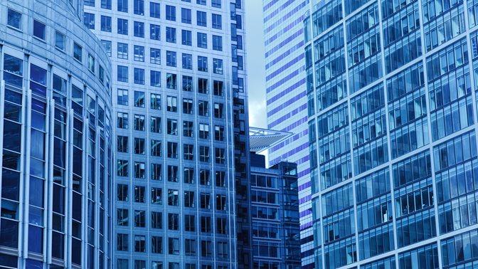 Three Skyscraper Buildings