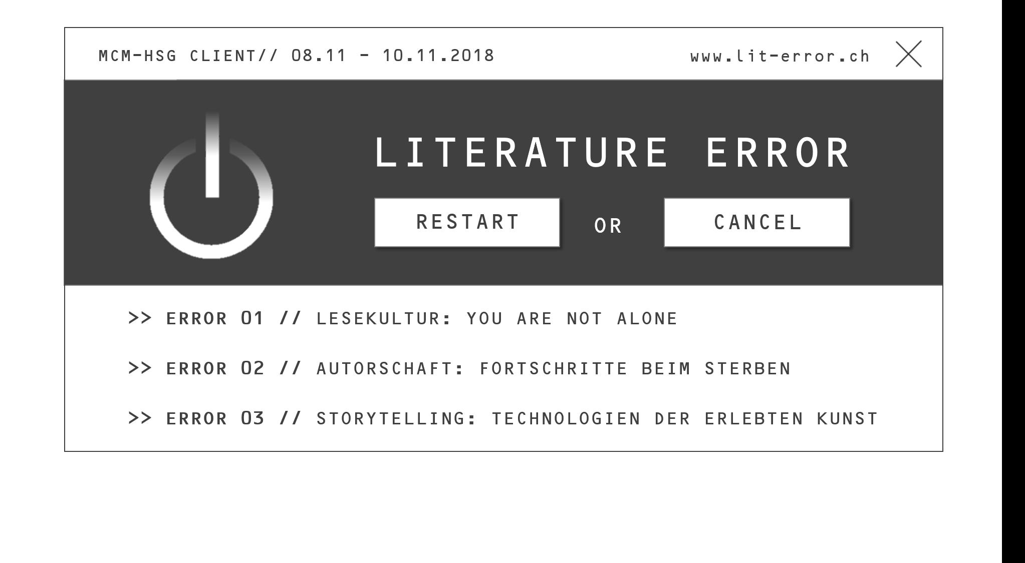 literature error