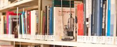 Bücher in der Bibliothek der HSG